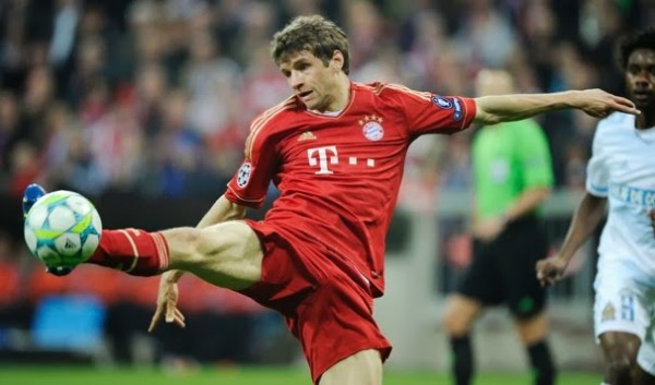 thomas muller kicking soccer top 2014 bulge men