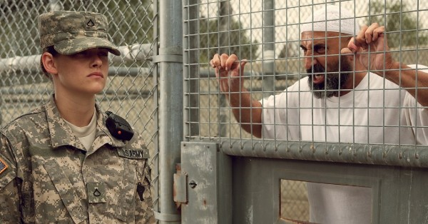 kristen stewart with terrorist in camp xray movie images 2014