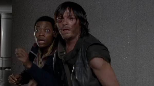 noah and darryl watch carol hit in walking dead consumed 2014