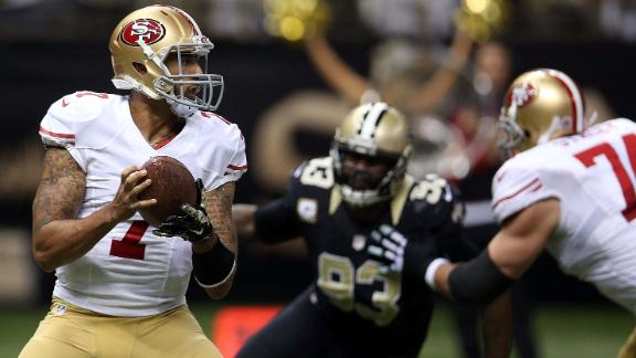san francisco versus new orleans saints game images 2014