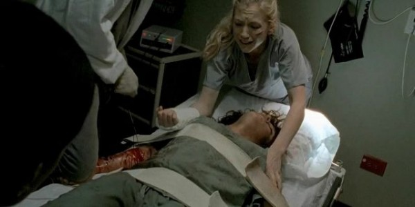walking dead beth season 4 slabtown cutting off womans arm images 2014