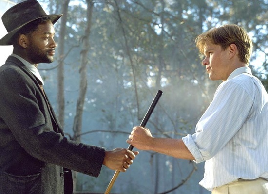 matt damon will smith hold bulge stick in legend of bagger vance best sports movie ever