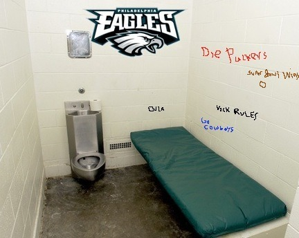 philadelphia eagles jail cell nfl 2014