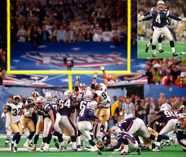 adam vinatieri most amazing moments in super bowl xxxvi history 2015