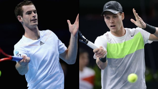 andy murray vs tomas berdych bulge for australian open semi finals 2015 images