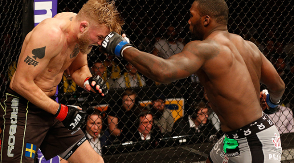 anthony johnson slams alexander gustafsson in head ufc fight night stockholm 2015