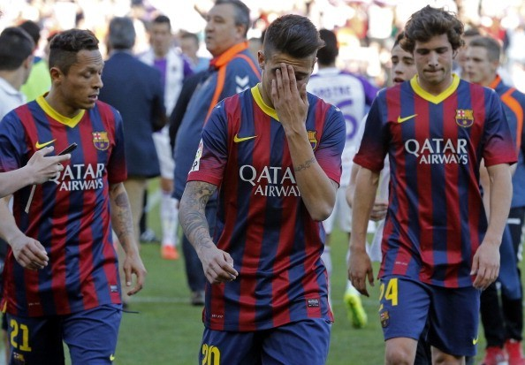 barcelona soccer team showing cracks 2015 images
