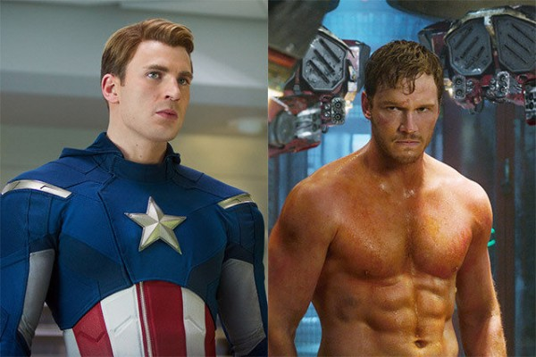 chris evans chris pratt sexy betting on super bowl bulge images 2015