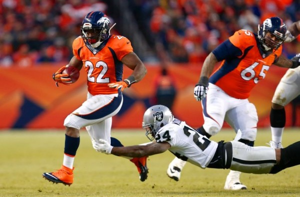cj anderson brings broncos to beat oakland nfl 2015 images