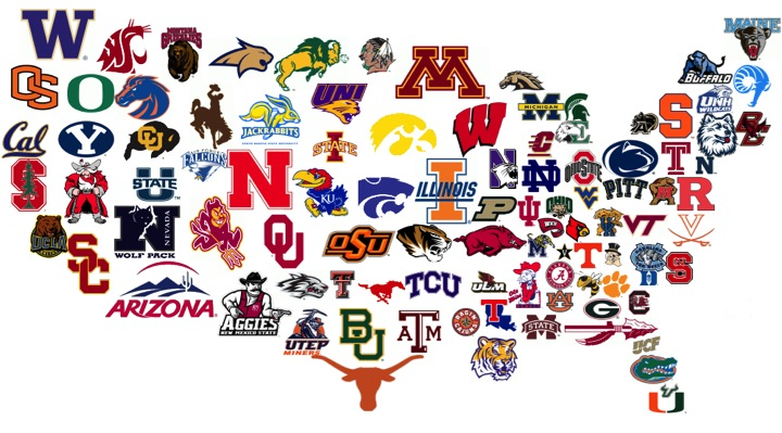 espn college football playoff division 1 football mascots