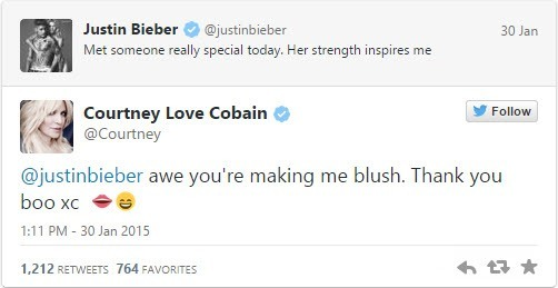 courtney love justing bieber couple up for muse love 2015