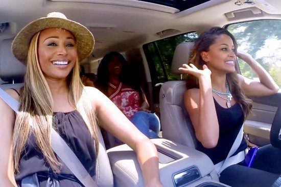 cynthia claudia and kenya moore on road trip for real housewives of atlanta 2015
