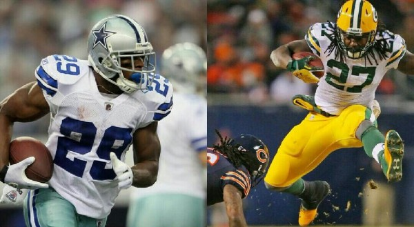 demarco murray vs eddie lacy cowboys green bay packers nfl images 2015