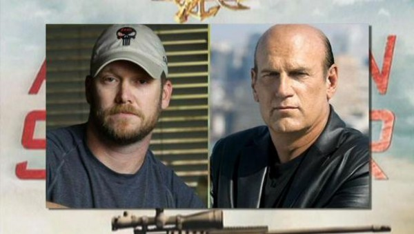 jesse ventura with chris kyle for american sniper clearing up 2015