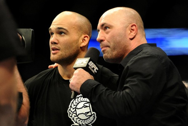 joe rogan holding mma ufc fighters for dana white 2015