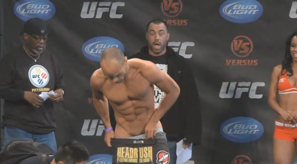 joe rogan watching mma ufc fighters bulge for dana white