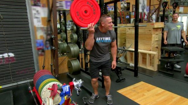 john cena training bulge for total divas nikki 2015