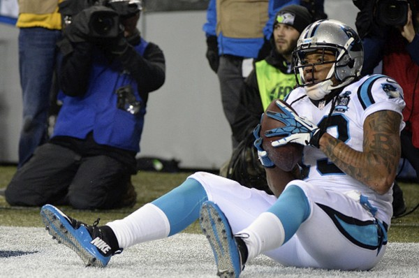 kelvin benjamin scores big for panthers 2015 nfl divisonals