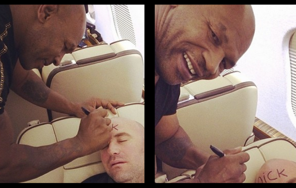mike tyson writing up ufc dana whites face