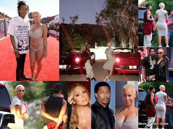 nick cannon & amber rose move forward into each other 2015