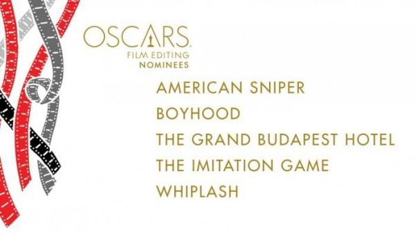 oscar noms for Film Editing 2015