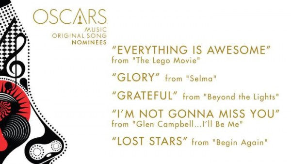 oscar noms for Original Song 2015