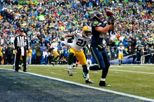 seahawks luke wilson catches conversion from packers nfl champs 2015