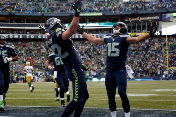 seattle seahawks beat green bay packers nfc champs 2015