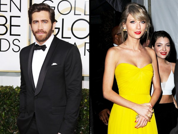 taylor swift not happy to see jake gyllenhaal at golden globes party