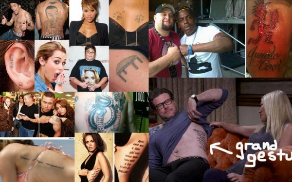 top 10 craziest celebrity tattoo images 2015