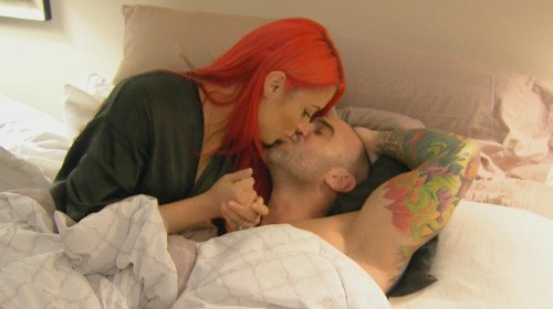 total divas eva marie with shirtless jonathan kissing images