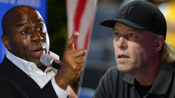 Magic Johnson Calls Out Jim Buss Just Say You Made Mistakes 2015