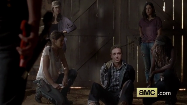 aaron tied up by rick grimes walking dead 2015 images