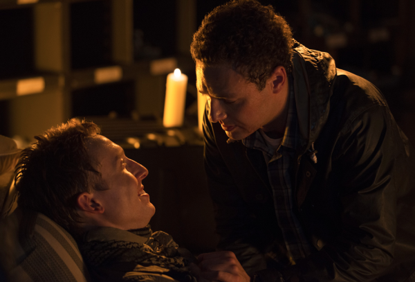 aaron with boyfriend eric on walking dead season 5 ep11 2015