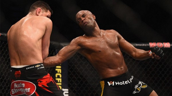 anderson silva chucking on nick diaz ufc 183 2015