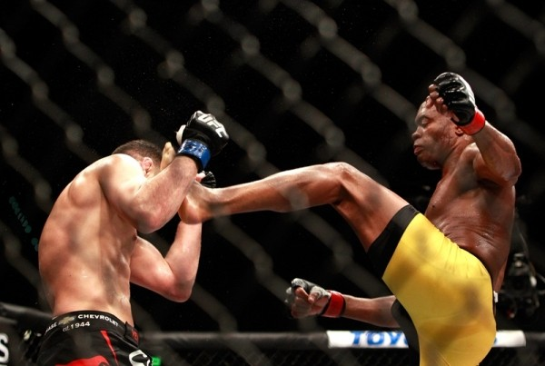 anderson silva kicks nicks diaz face ufc 183 2015