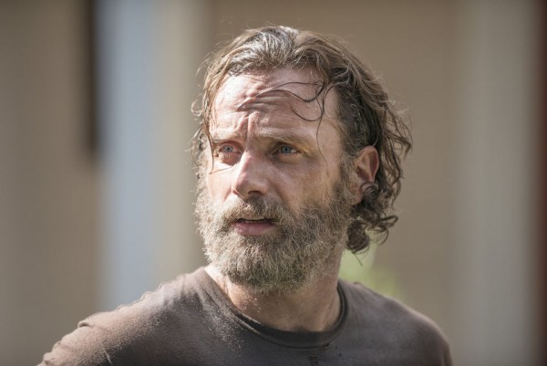 andrew lincoln bear for rick grimes in walking dead season 5