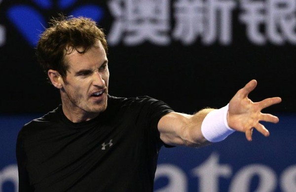 andy murray angry novak djokovic bulge bigger for australian open 2015