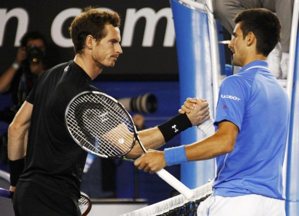 andy murray fondles novak djokovic bulge beatdown for australian open 2015