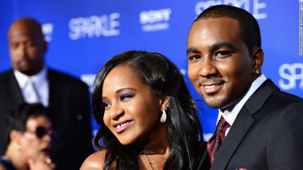 bobbi kristina brown with not husband nick gordon 2015