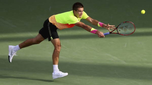 borna coric beats andy murray atp 2015 dubai open 2015 images