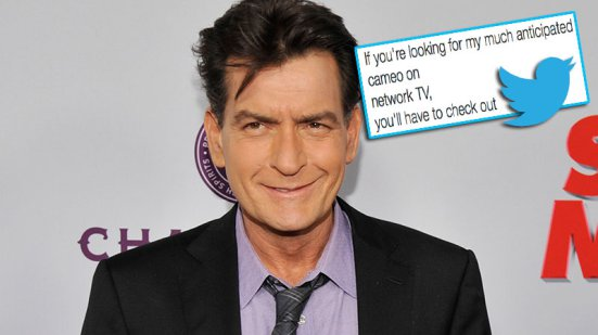 charlie sheen tweets out hes not on two half men finale 2015