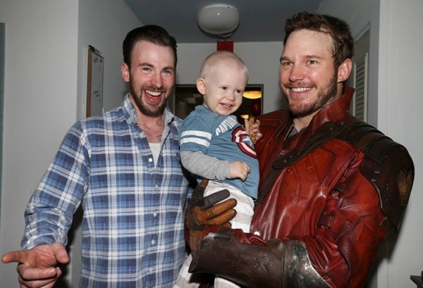 chris evans bulge with chris pratt star lord images 2015