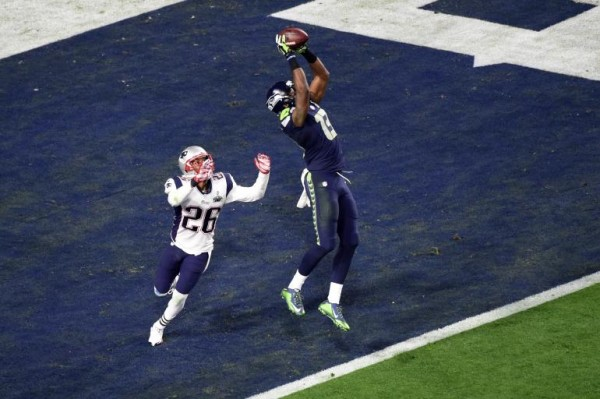 chris matthews gets touchdown from patriots logan ryan for super bowl xlix 2015