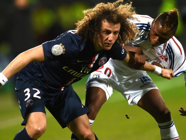 clinton njie scores with david luiz for lyon vs les gones 2015