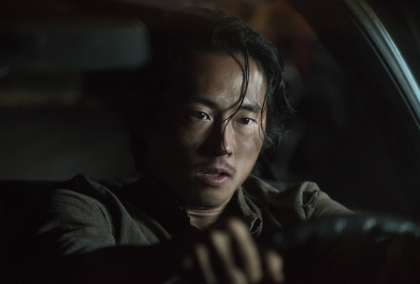 glenn driving car into zombies walking dead ep 11 2015