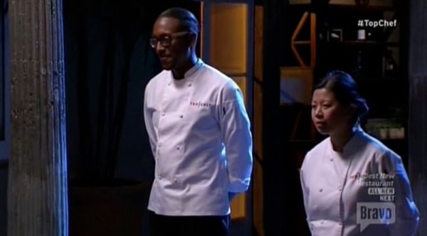 gregory with mei at top chef boston judges table finale 2015 images