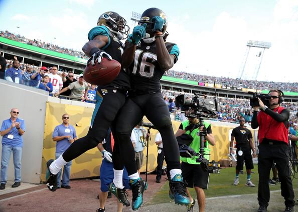 jacksonville jaguars celebrate new york giants win 2015 images