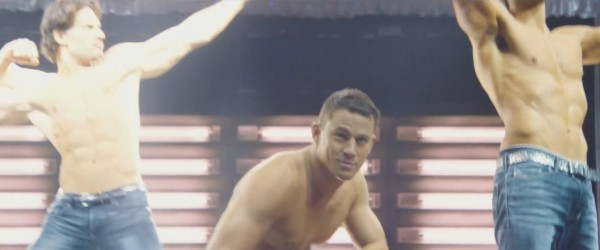 joe manganiello with channing tatum stripping down for magic mike xxl 2015