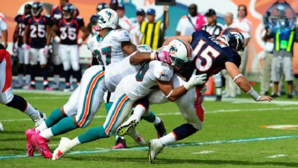 miami dolphins lose to denver broncos nfl 2015
